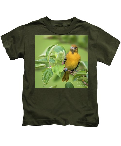 Immature Baltimore Oriole  Kids T-Shirt