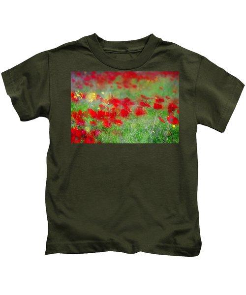 Impressionistic Blossom Near Shderot Kids T-Shirt