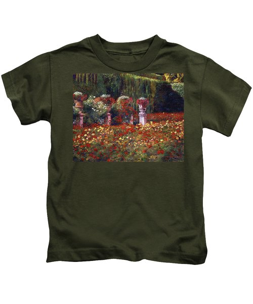 Impressions Of An English Rose Garden Kids T-Shirt