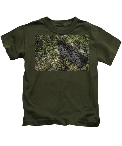 In The Shadows Black Bear Kids T-Shirt