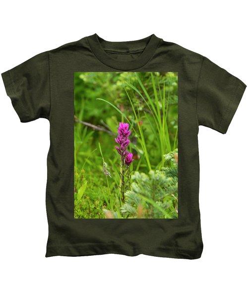 Magenta Paintbrush Kids T-Shirt