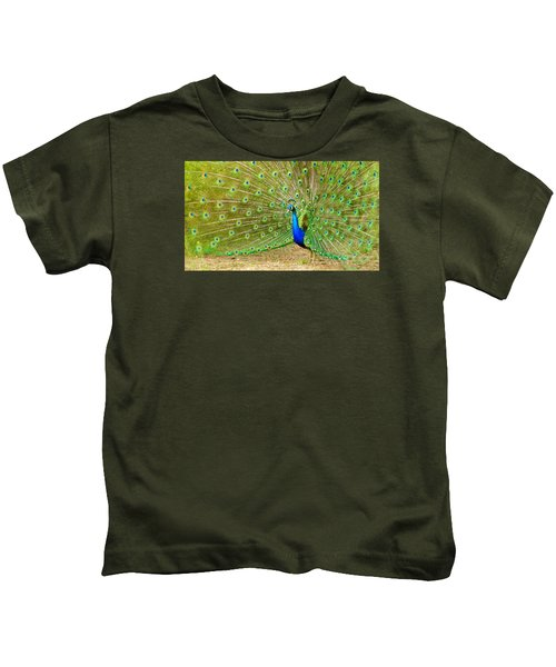 Indian Peacock Kids T-Shirt