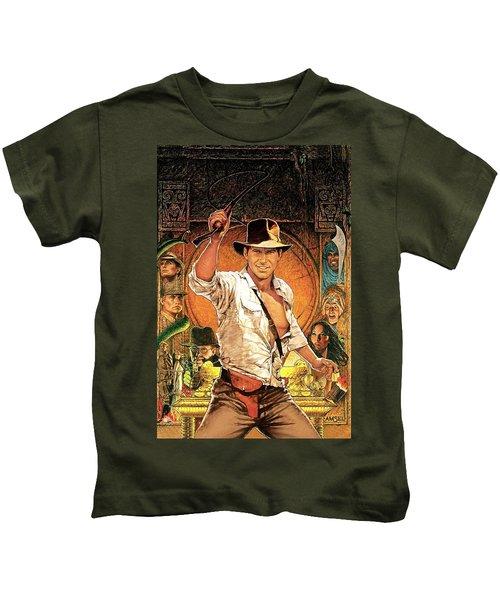 Indiana Jones Raiders Of The Lost Ark 1981 Kids T-Shirt