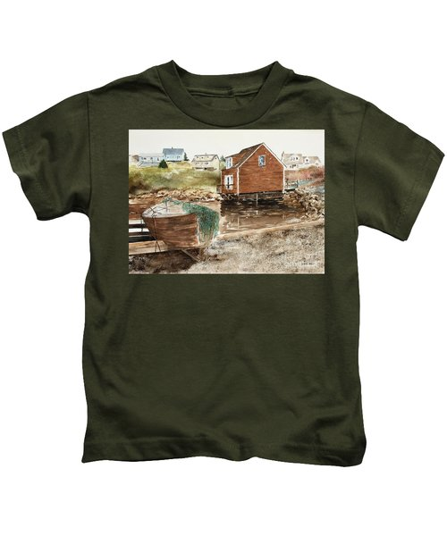 Inlet At Peggy's Cove Kids T-Shirt