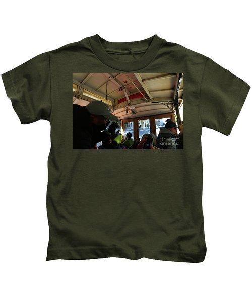 Inside A Cable Car Kids T-Shirt
