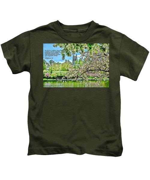 Inspirational - Cherry Blossoms Kids T-Shirt