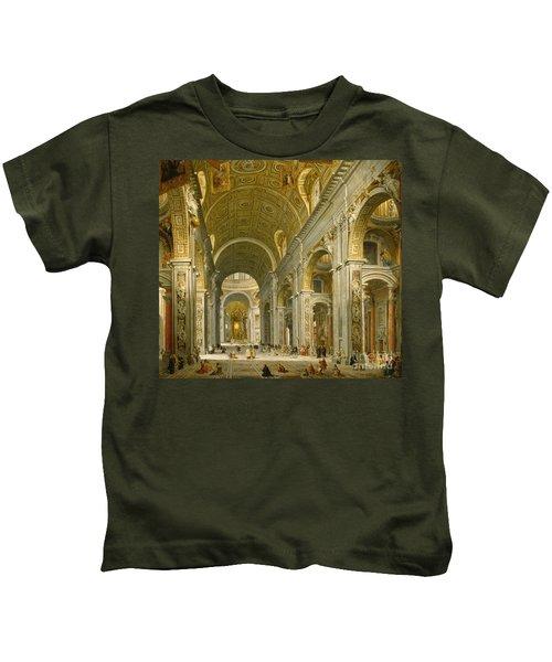 Interior Of St. Peter's - Rome Kids T-Shirt