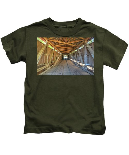 Interior View - Conley's Ford Covered Bridgee Kids T-Shirt
