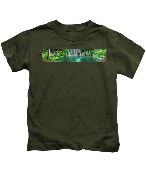 Into The Waterfalls - Plitvice Lakes National Park Croatia Kids T-Shirt