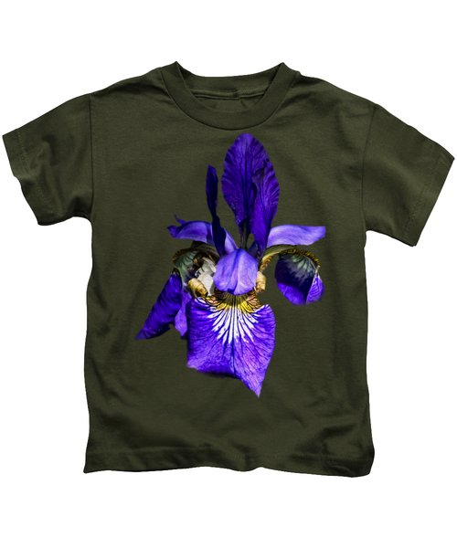 Iris Versicolor Kids T-Shirt by Mark Myhaver