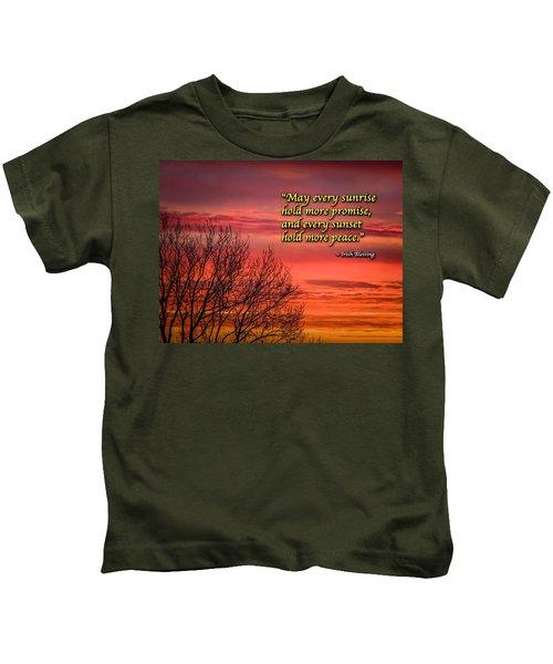 Kids T-Shirt featuring the photograph Irish Blessing - May Every Sunrise... by James Truett