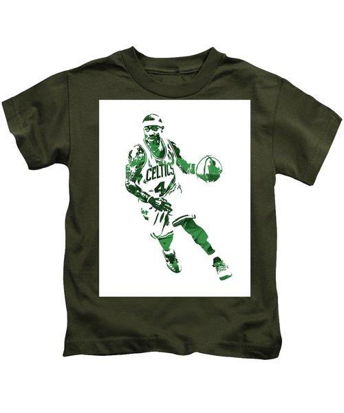 Isaiah Thomas Boston Celtics Pixel Art 6 Kids T-Shirt