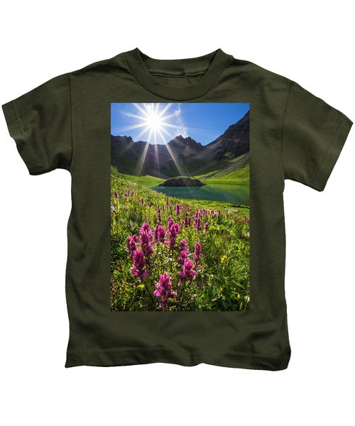 Island Lake Flowers Kids T-Shirt