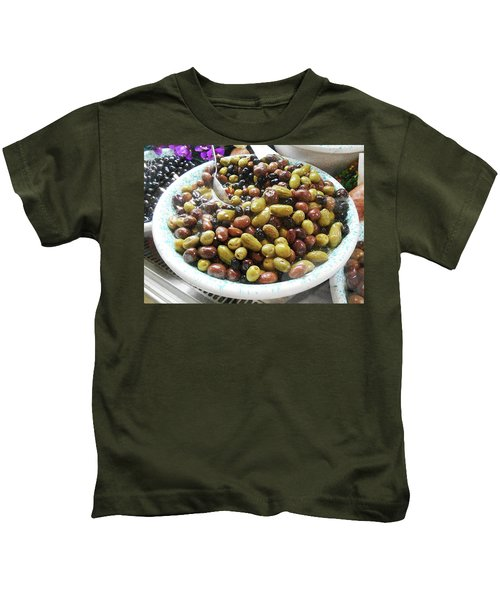 Italian Market Olives Kids T-Shirt