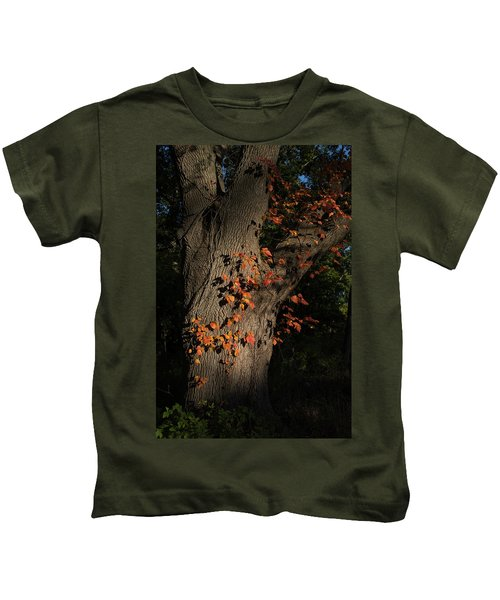 Ivy In The Fall Kids T-Shirt