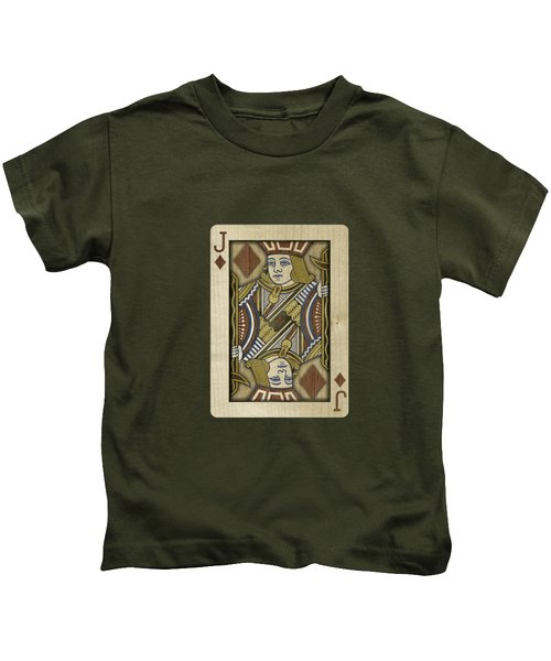 Jack Of Diamonds In Wood Kids T-Shirt