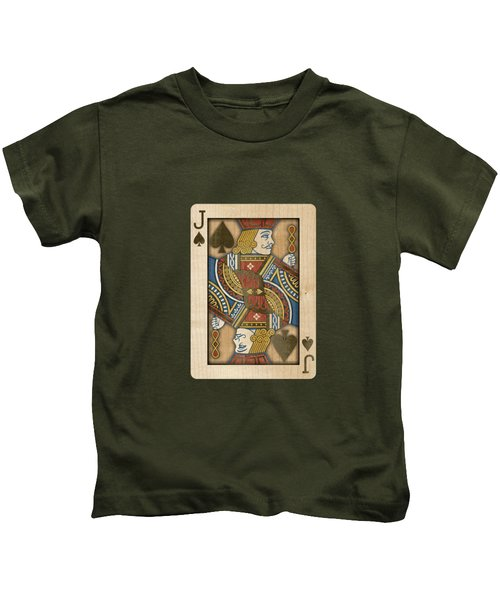 Jack Of Spades In Wood Kids T-Shirt