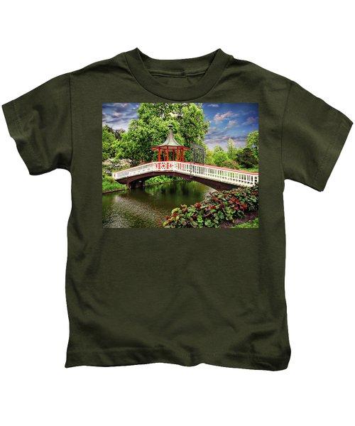 Japanese Bridge Garden Kids T-Shirt