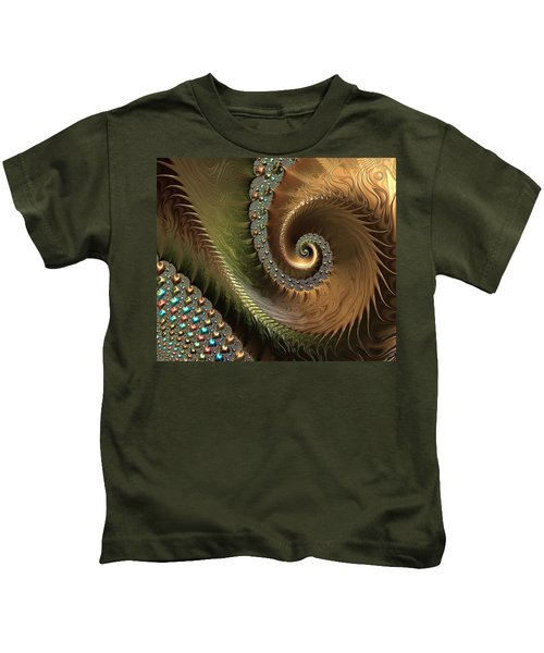 Jewel And Spiral Abstract Kids T-Shirt