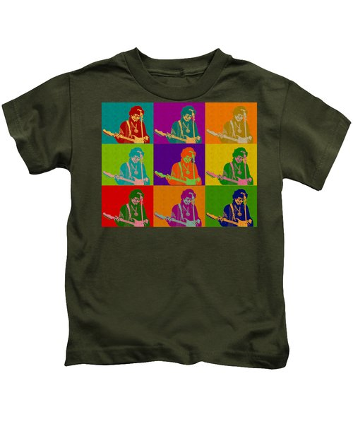 Jimi Hendrix In The Style Of Andy Warhol Kids T-Shirt
