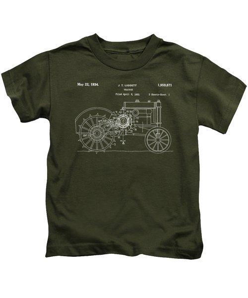 John Deere Tractor Patent Tee Kids T-Shirt
