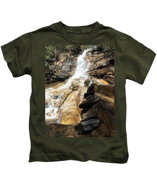 Jones Gap Falls  Kids T-Shirt