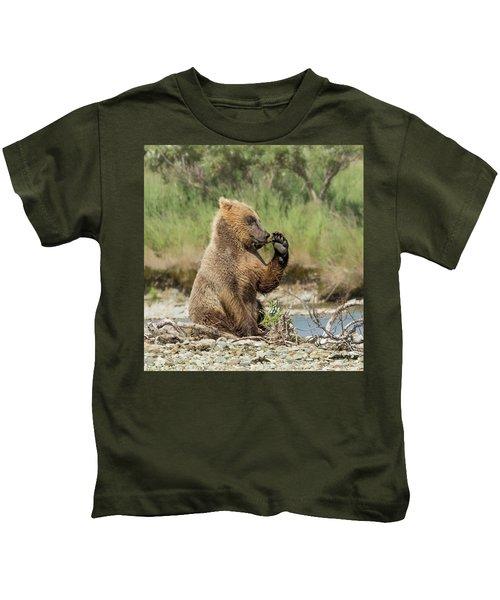 Just A Little Fiber Kids T-Shirt