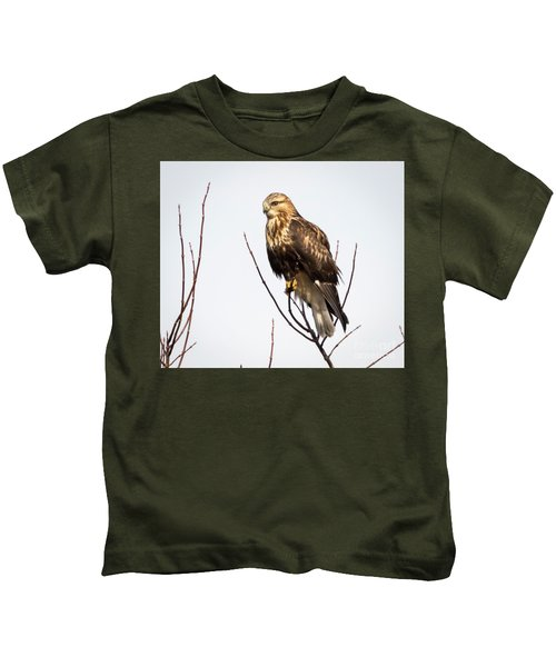 Juvenile Rough-legged Hawk  Kids T-Shirt