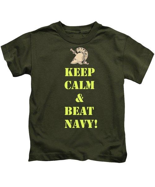 Keep Calm And Beat Navy Kids T-Shirt