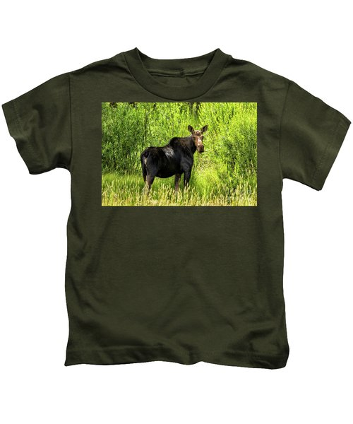 Keep Your Distance Wildlife Art By Kaylyn Franks Kids T-Shirt