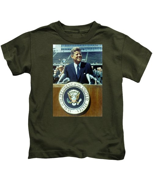 Kennedy At Rice University Kids T-Shirt