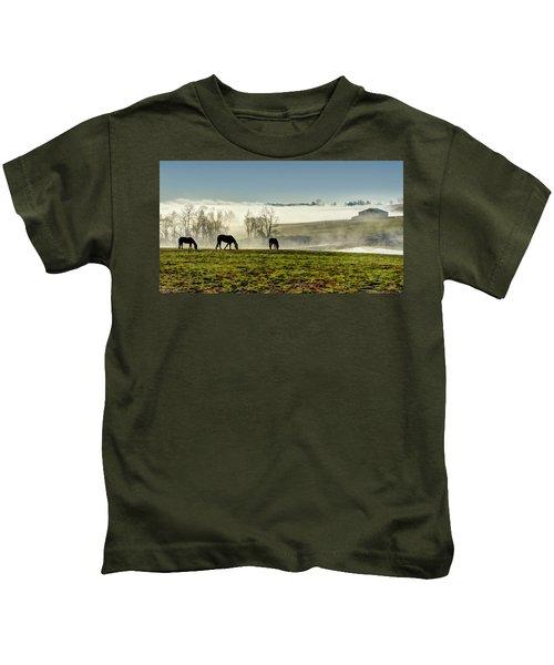Kentucky Bluegrass Morning #1 Kids T-Shirt