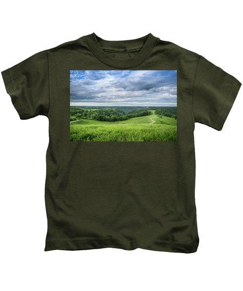 Kentucky Hills And Clouds Kids T-Shirt