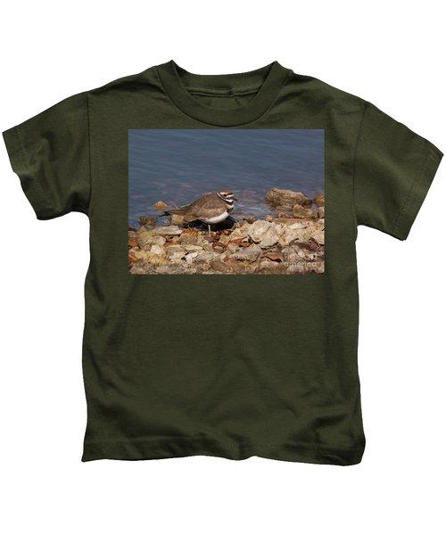 Kildeer On The Rocks Kids T-Shirt
