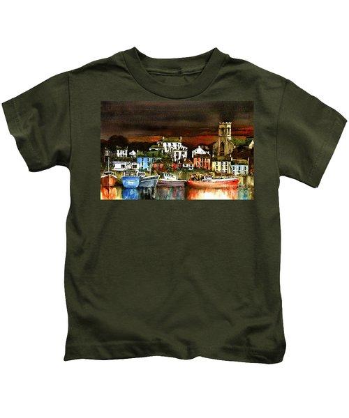 Killybegs Harbour, Donegal. Kids T-Shirt