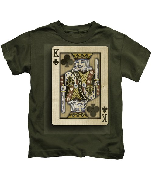 King Of Clubs In Wood Kids T-Shirt