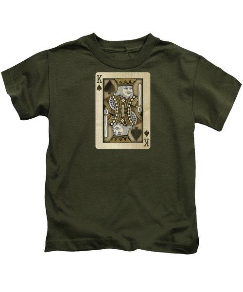 King Of Spades In Wood Kids T-Shirt