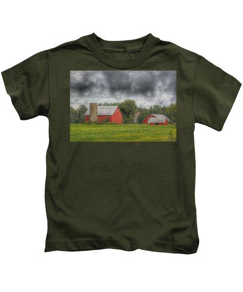 0022 - Kingston Road Red Trio I Kids T-Shirt