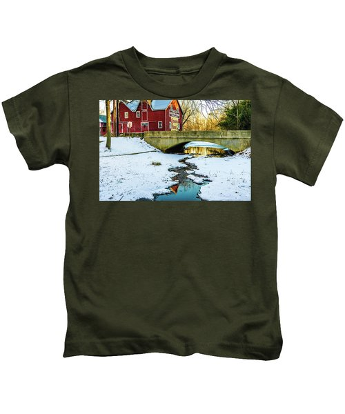 Kirby's Mill Landscape - Creek Kids T-Shirt