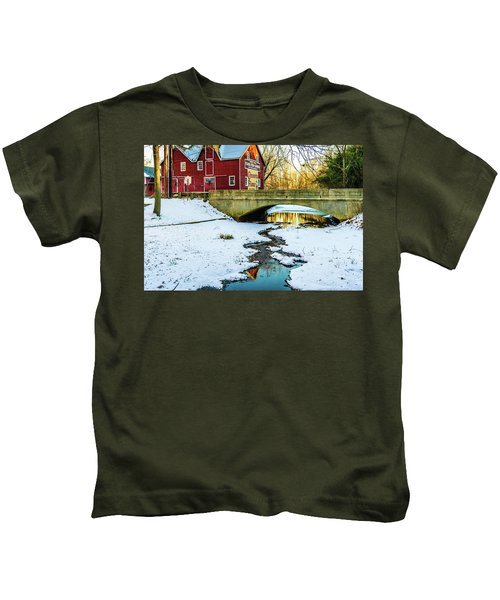 Kirby's Mill Landscape - Creek Kids T-Shirt