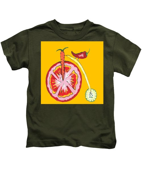 Kitchen Vegetable Art Kids T-Shirt