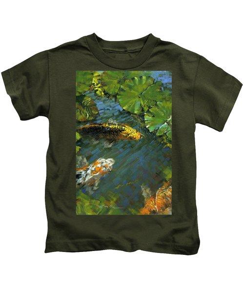 Koi Pond Kids T-Shirt