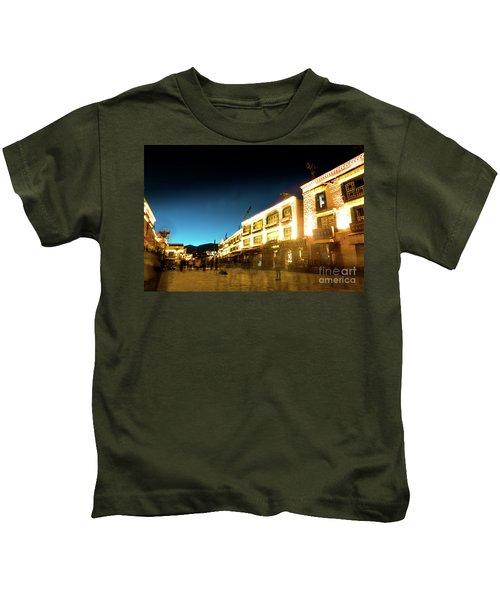 Kora At Night At Jokhang Temple Lhasa Tibet Yantra.lv Kids T-Shirt