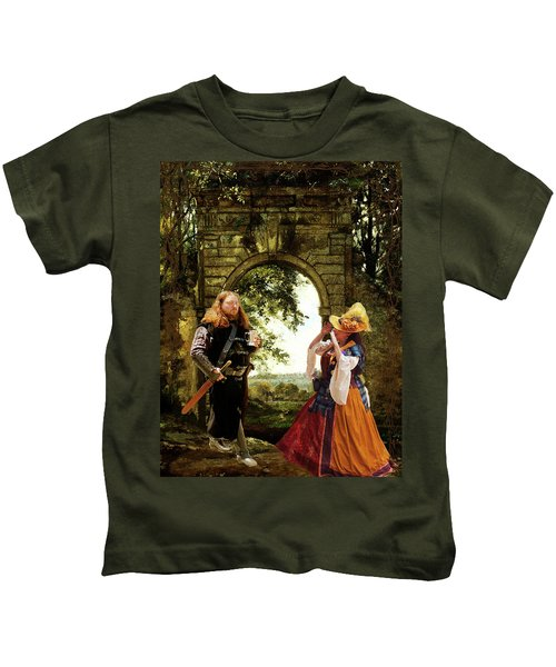 Lady At The Gate Kids T-Shirt