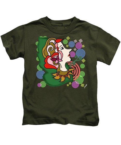 Lady Petal Design Kids T-Shirt