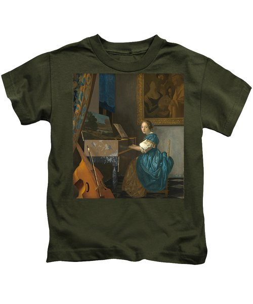 Lady Seated At A Virginal Kids T-Shirt