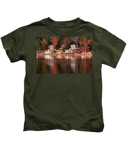 Lake Cottages Reflections Kids T-Shirt