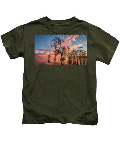 Lake Maurepas On Fire Kids T-Shirt