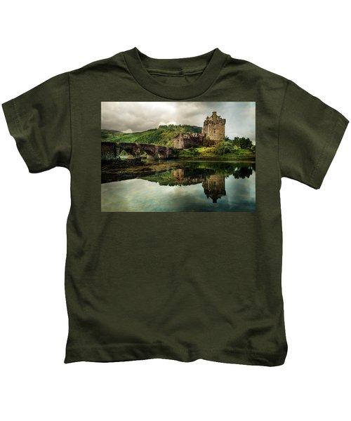 Landscape With An Old Castle Kids T-Shirt