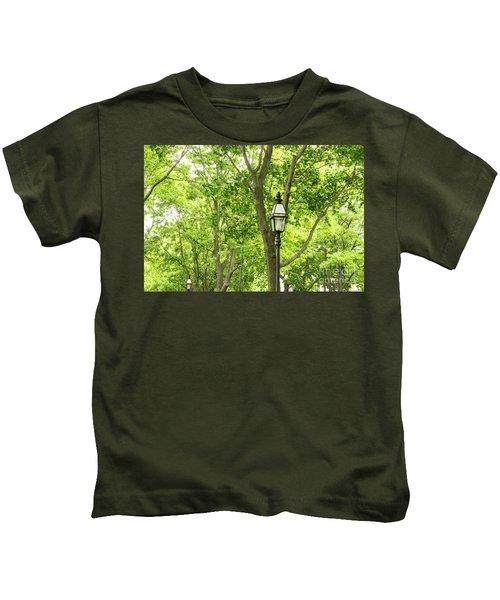 Lanterns Among The Trees Kids T-Shirt